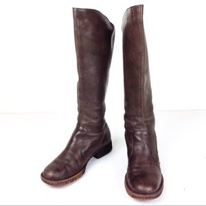 Born Brown Leather Heeled Boots 7